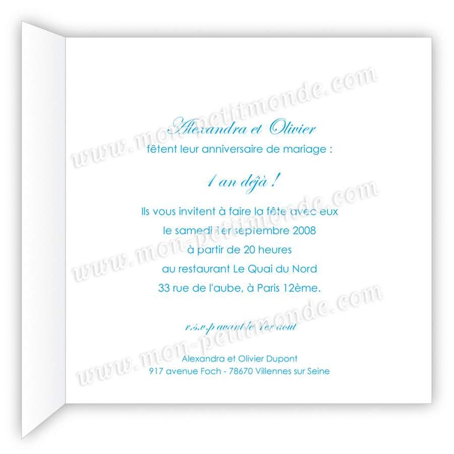Texte pour notre anniversaire de mariage
