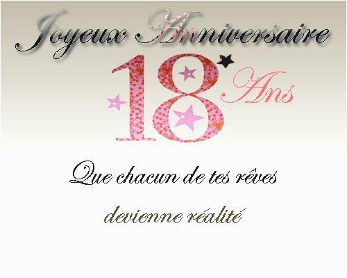 Texte Carte Anniversaire 18ans Elevagequalitetouraine
