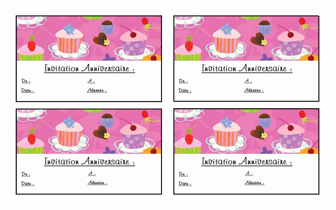 Carte invitation anniversaire 5 ans gratuite