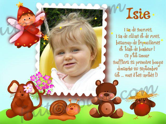 Idée texte anniversaire bébé 1 an
