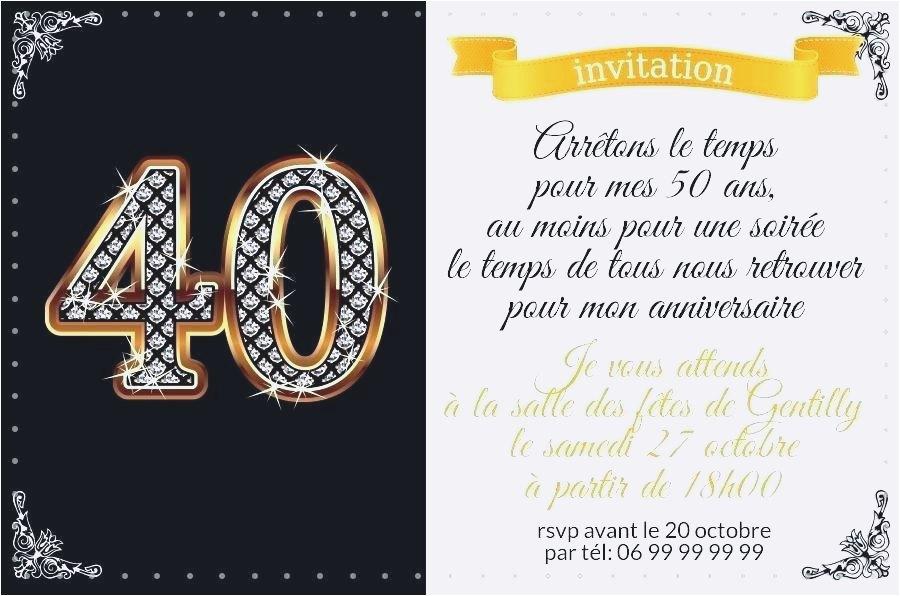 Idee texte pour invitation anniversaire 40 ans