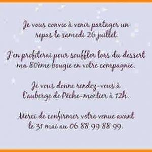Texte D Invitation Anniversaire 31 Ans Elevagequalitetouraine