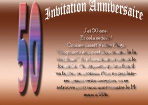 Carte Invitation Humour Anniversaire 50 Ans Elevagequalitetouraine
