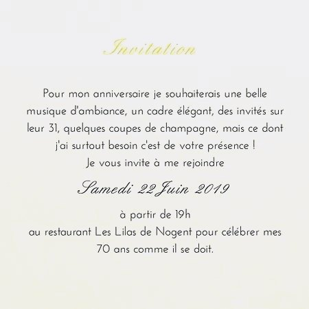 Invitations Anniversaire Texte Elevagequalitetouraine
