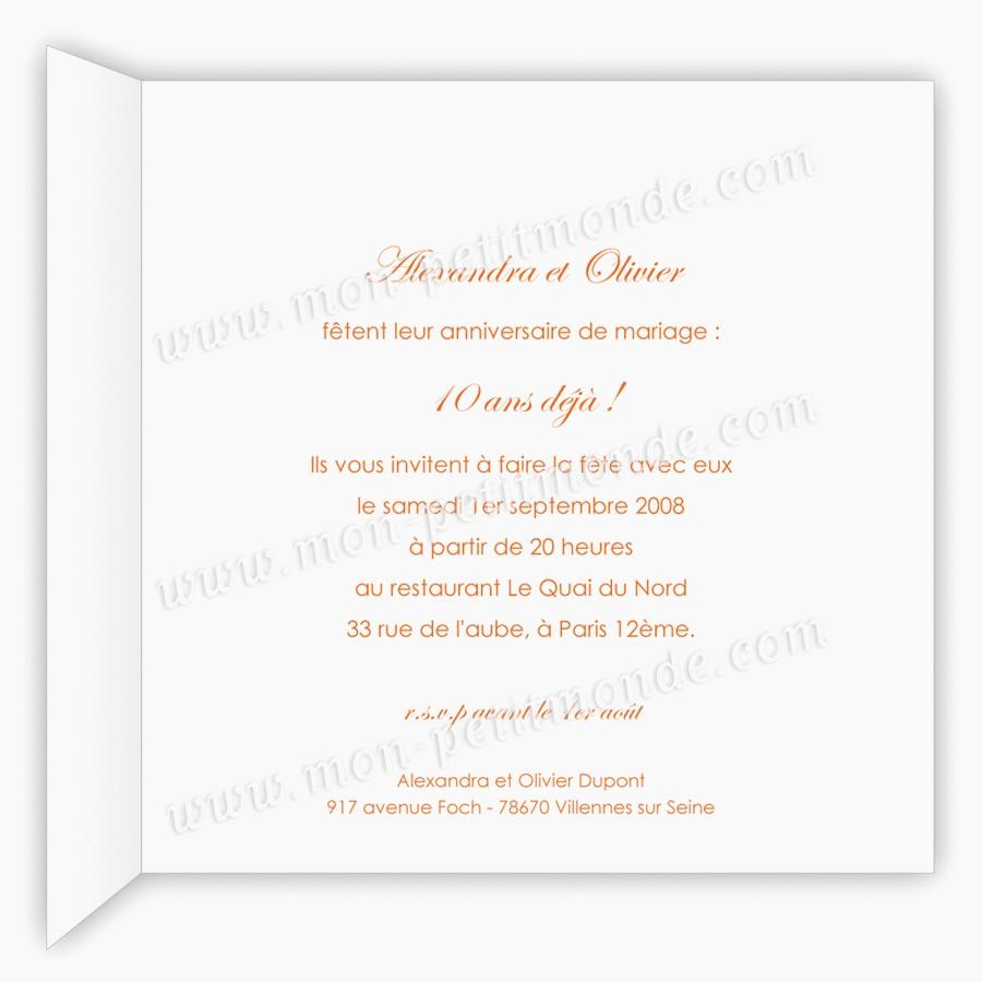 Texte invitation anniversaire 10 ans mariage