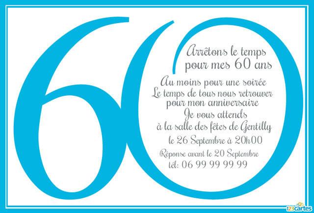 Texte rigolo pour anniversaire 60 ans