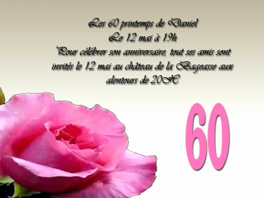 Texte anniversaire mariage 60 ans