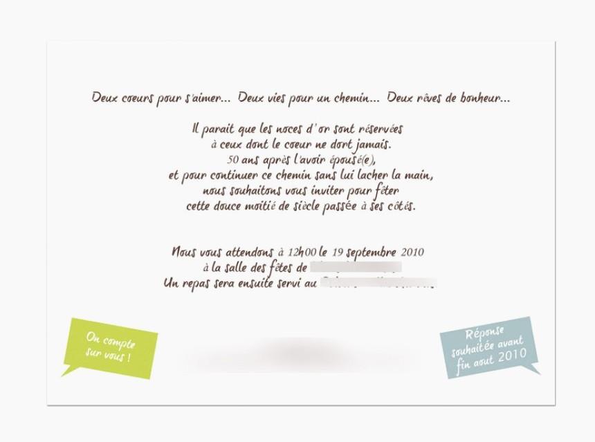 Texte Invitation Anniversaire 50 Ans Originale