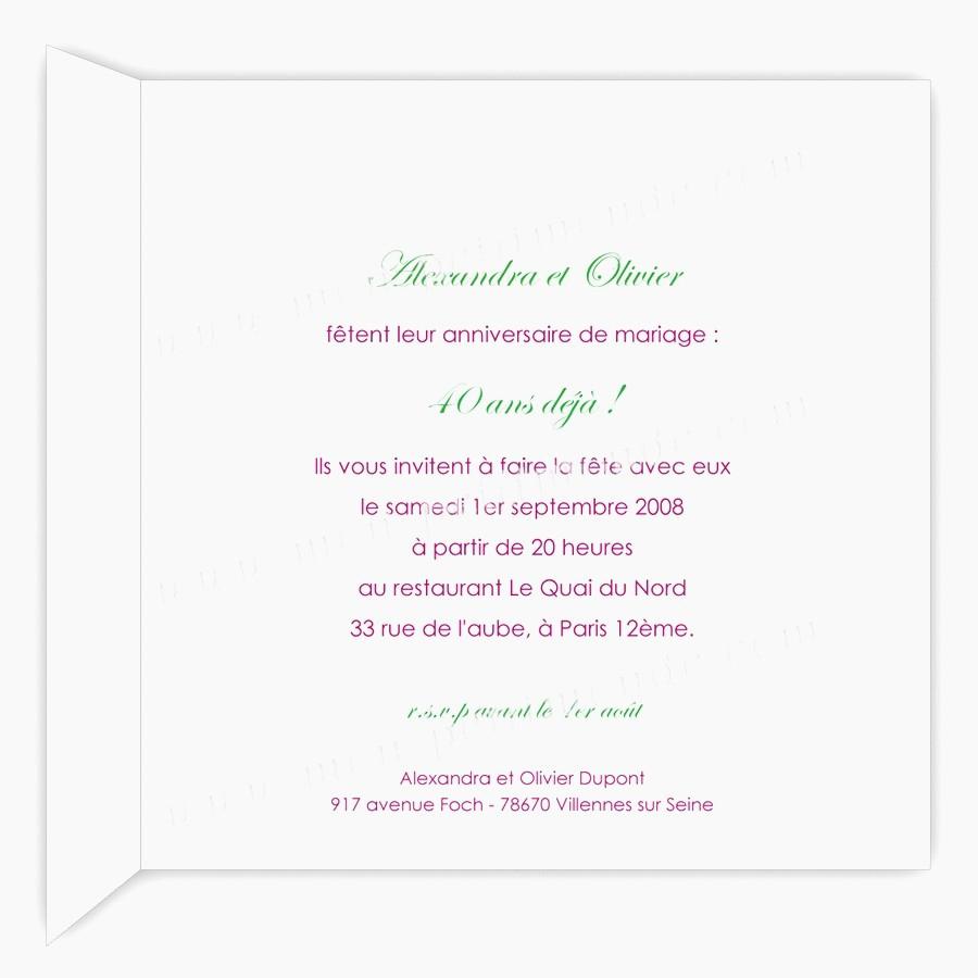 Texte anniversaire de mariage de 40 ans