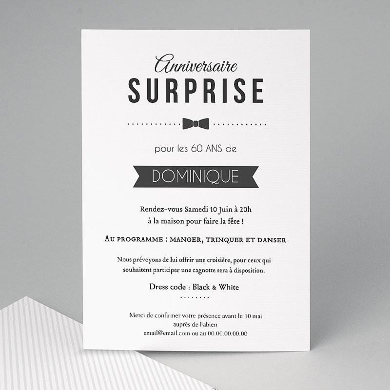 Texte invitation anniversaire 30 ans et 60 ans