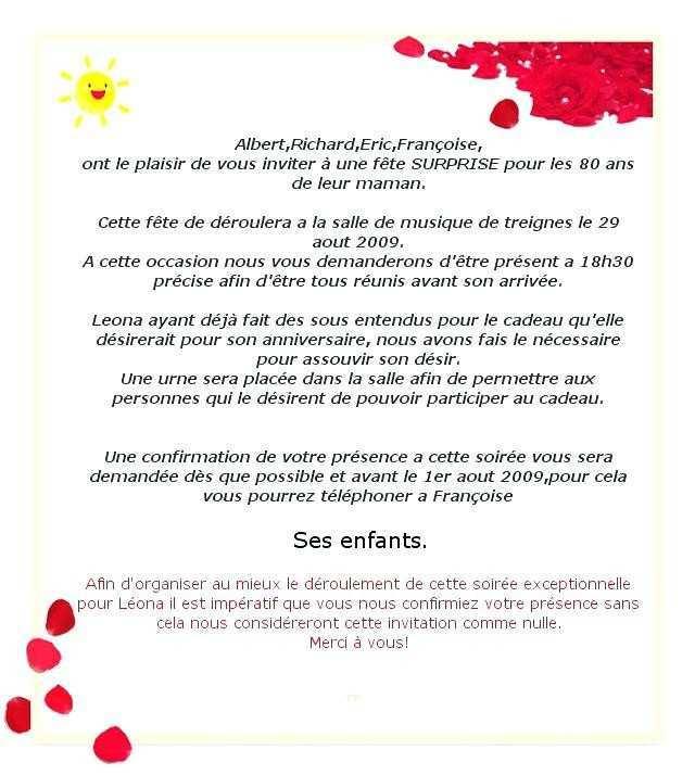 Texte Invitation Anniversaire Surprise Humoristique Elevagequalitetouraine