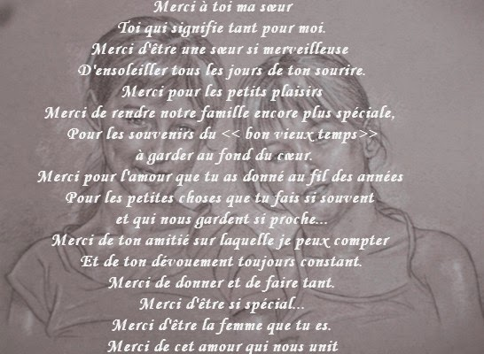 Texte Anniversaire Pour Ma Grande Soeur Elevagequalitetouraine