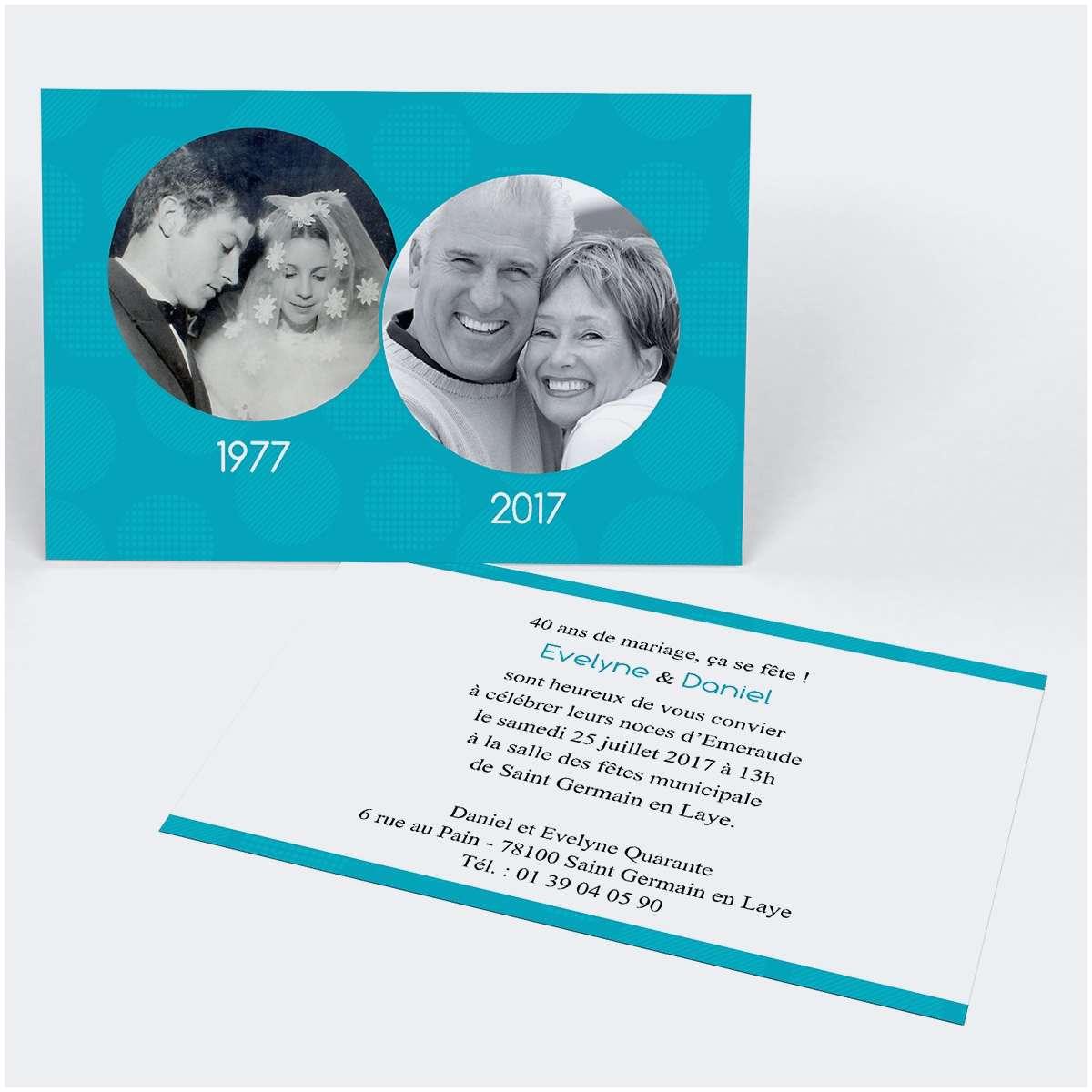 Texte pour 40 ans anniversaire de mariage