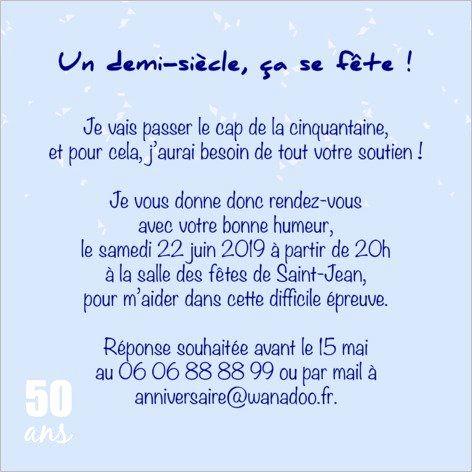 Modele Texte Pour Anniversaire 50 Ans Homme Elevagequalitetouraine