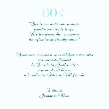 Invitation texte anniversaire 60 ans