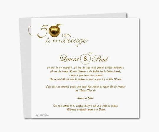 Texte pour anniversaire 50 ans mariage