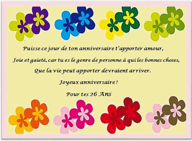 Message anniversaire 21