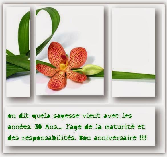 Message anniversaire 32 ans