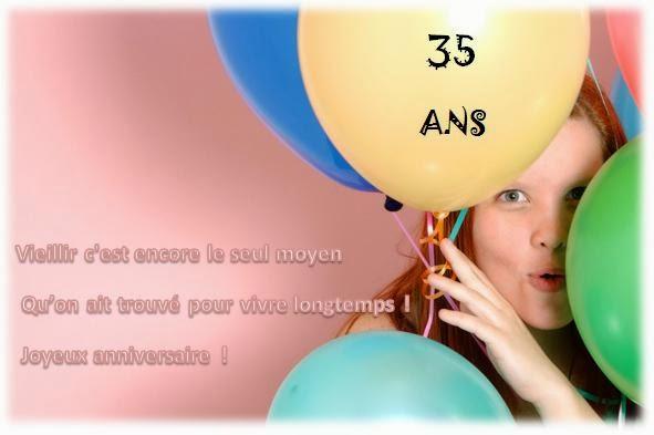 Message anniversaire original 35 ans