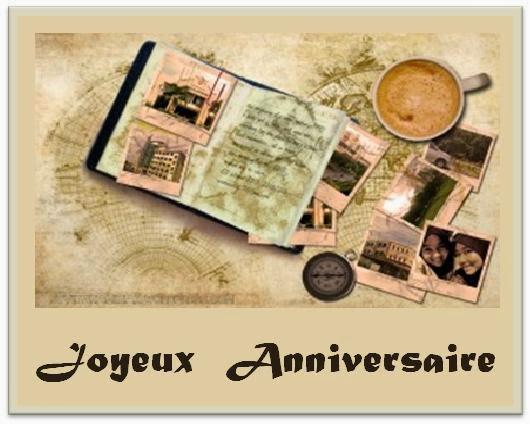 Carte joyeux anniversaire voyage