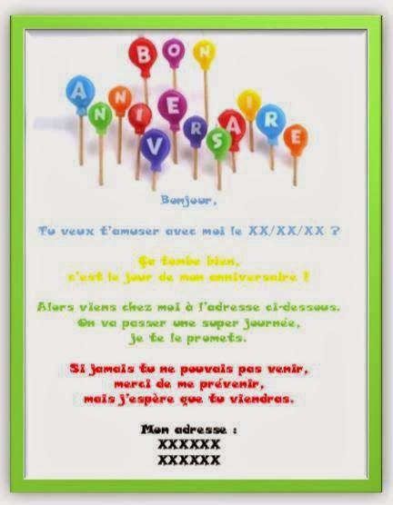 Message pour invitation anniversaire 30 ans