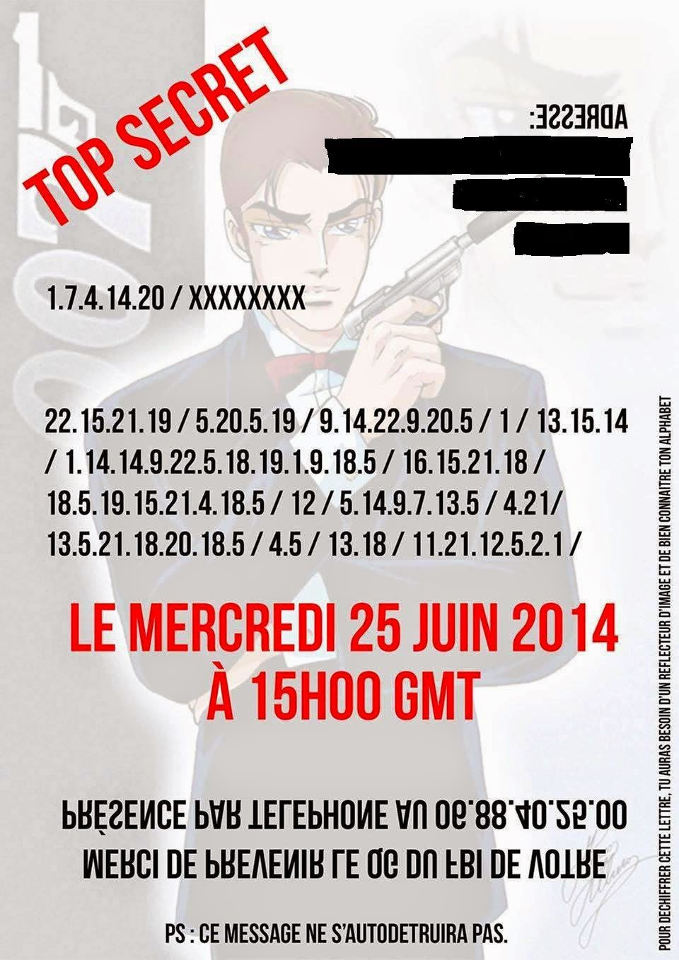 Carte anniversaire top secret