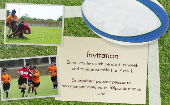 Carte anniversaire femme rugby