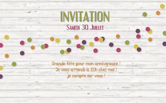 Carte d invitation anniversaire electronique gratuite