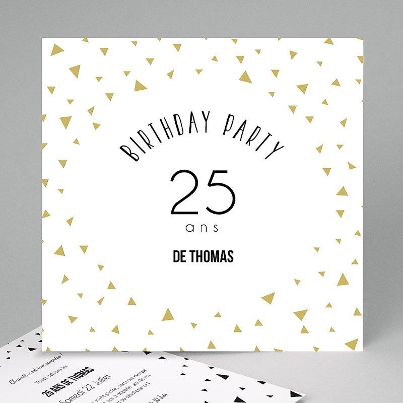 Carte invitation anniversaire modele