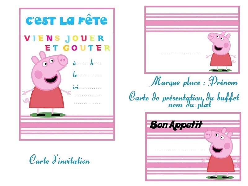 Carte joyeux anniversaire peppa pig a imprimer
