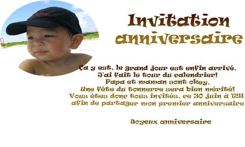 Message original anniversaire 1 an