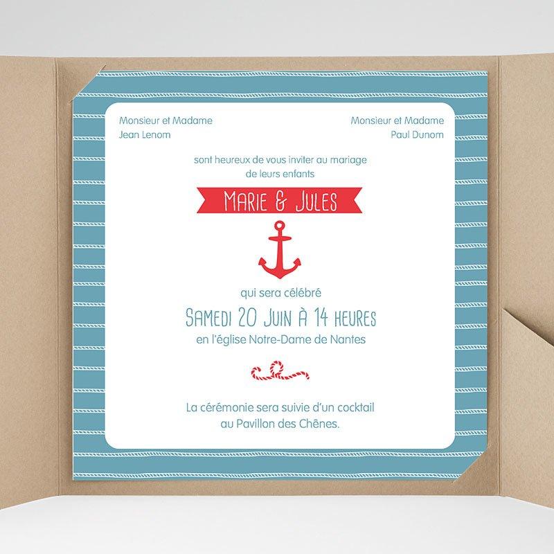 Carte invitation anniversaire thème marin
