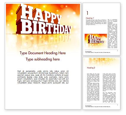 Modele word carte anniversaire