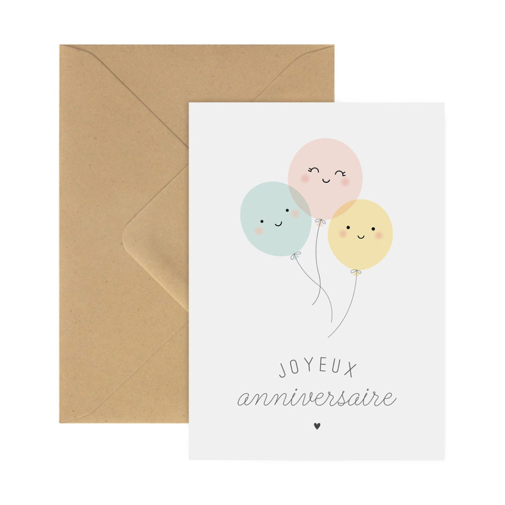Carte anniversaire ballon