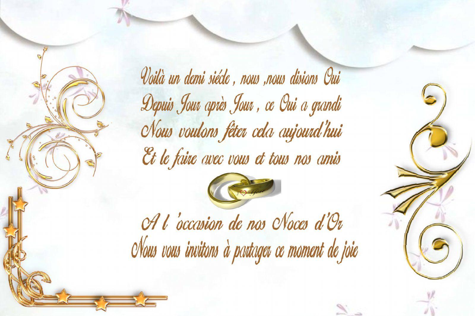 50e anniversaire de mariage noces d or
