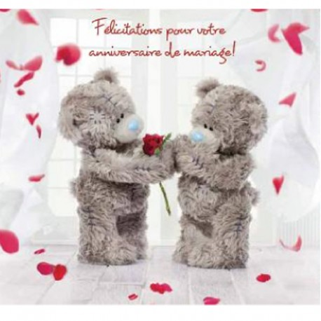 Carte de félicitation anniversaire de mariage