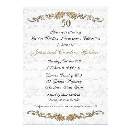 Invitation 50e anniversaire de mariage