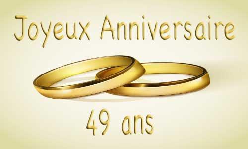 Anniversaire 49 ans de mariage