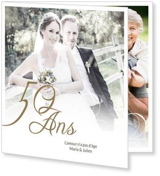 Cartes anniversaire de mariage 50 ans