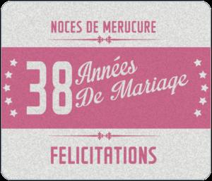 Anniversaire 38 ans de mariage