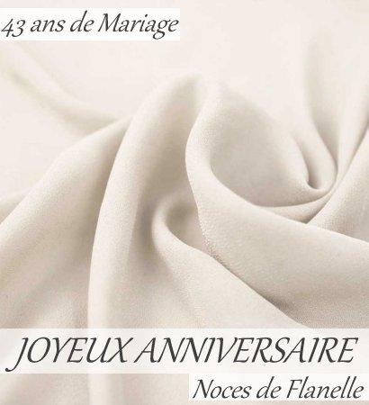 Carte anniversaire de mariage 43 ans