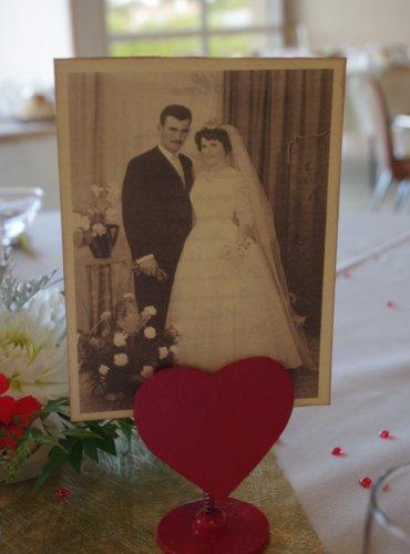 Decoration de table pour anniversaire 50 ans de mariage