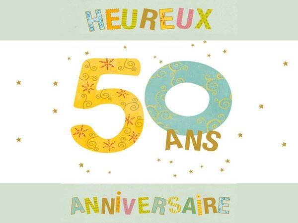 Carte virtuelle anniversaire de mariage 50 ans