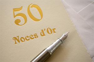 Anniversaire de mariage 50 ans noce d'or