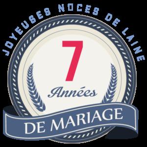 Anniversaire de mariage 7 ans idee cadeau
