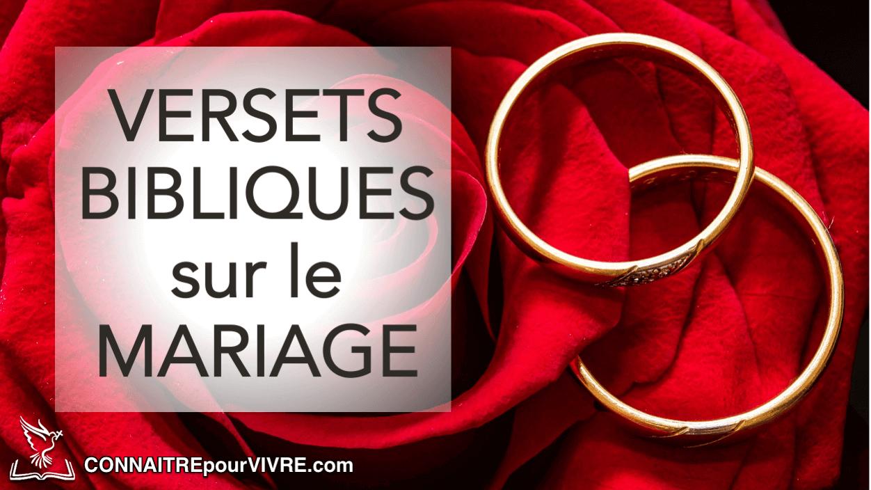 Verset biblique anniversaire de mariage