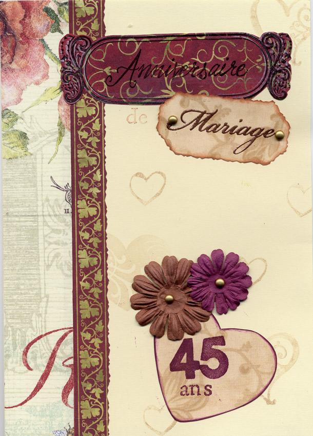 45 anniversaire de mariage