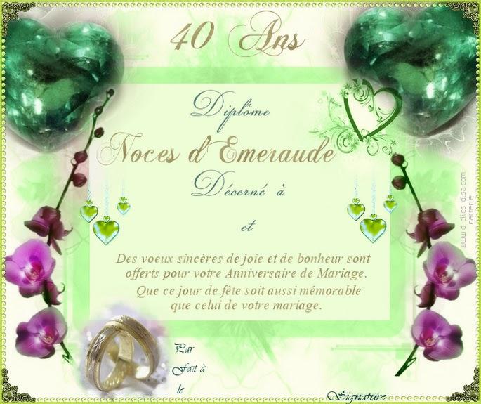 Citation anniversaire 40 ans de mariage