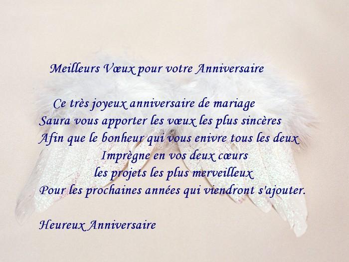 Modele de lettre anniversaire de mariage