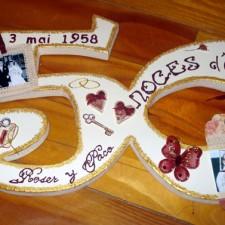 Décoration anniversaire de mariage 50 ans